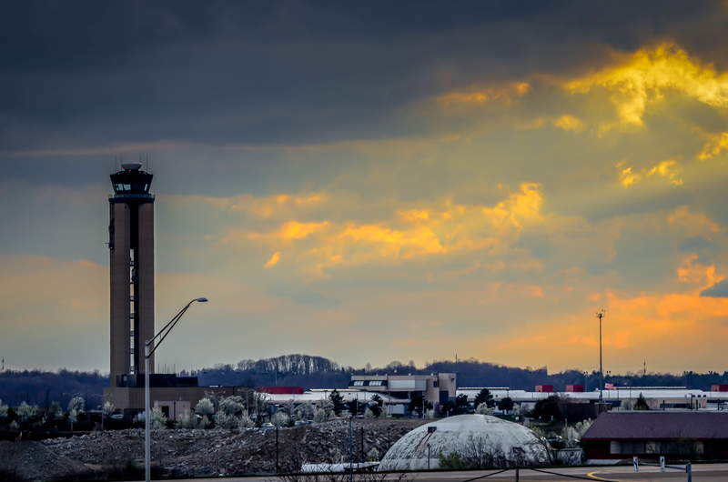 Pittsburgh Airport is located 20 miles (30 km) west of downtown Pittsburgh, in Pennsylvania, U.S.